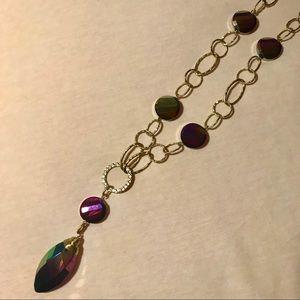 Lia Sophia Rainbow Pendent Necklace